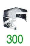 BONNET HEXAG 300 GALV 1/2