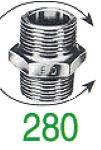 NIPPLE DOUBLE 280 NOIR 2 1/2