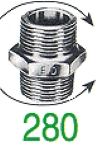 NIPPLE DOUBLE 280 GALV 2 1/2