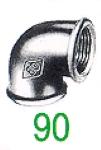COUDE 90 FF 90' NOIR 1/4
