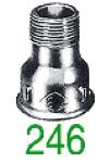 MANCHON 246 MF NOIR 1/4X1/8