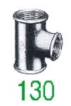 TE 130 GALV 3/4X1/2X3/4